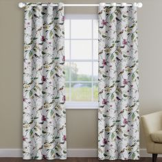 Birdsong Orchid Pink Birds And Flowers Made To Measure Curtains