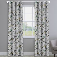 Birdsong Willow Green Birds And Flowers Made To Measure Curtains