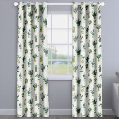 Modern Cactus Fennel Green Made To Measure Curtains