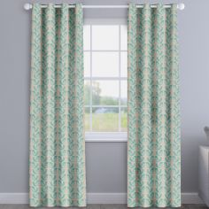 Scandi Birds Aqua Blue Made To Measure Curtains
