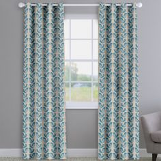 Scandi Birds Capri Blue Made To Measure Curtains