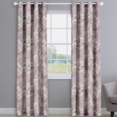 Scribble Floral Wildrose Pink Made To Measure Curtains
