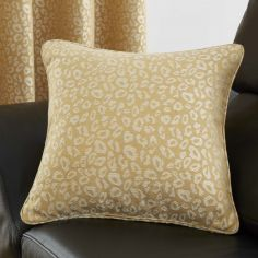 Leopard Print Cushion Cover - Ochre Yellow