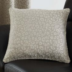 Leopard Print Cushion Cover - Stone Natural