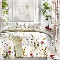 Spring Glade Floral Fully Lined Tape Top Curtains - Multi