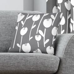 Alabar Floral Cushion Cover - Grey