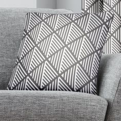 Brooklyn Geometric Cushion Cover - Grey