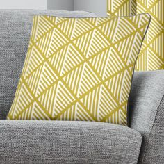 Brooklyn Geometric Cushion Cover - Ochre Yellow
