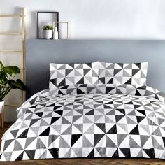 Geo Vibrant Duvet Cover Set - Grey