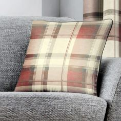 Balmoral Check Cushion Cover - Blush Pink