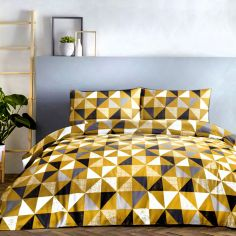 Geo Vibrant Duvet Cover Set - Ochre Yellow