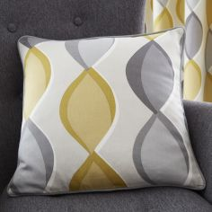 Lennox Ogee Pattern Cushion Cover - Grey