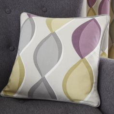 Lennox Ogee Pattern Cushion Cover - Heather Pink