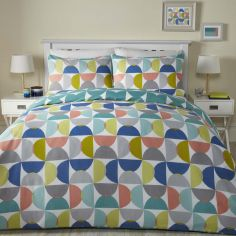 Quantum Geometric Duvet Cover Set - Multi