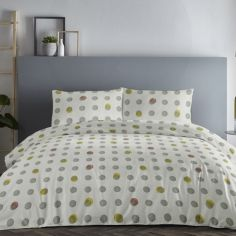 Spots Duvet Cover Set - Ochre Yellow