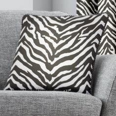 Zebra Print Cushion Cover - Black & White