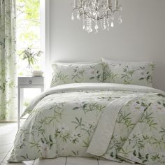 Florence Painted Floral Duvet Cover Set - Green