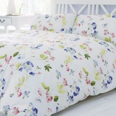 Grace Floral Duvet Cover Set - Pink Multi