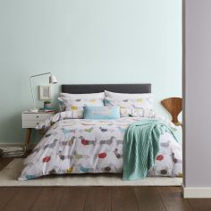 Catherine Lansfield Silly Sausage Dog Duvet Cover Set - Multi