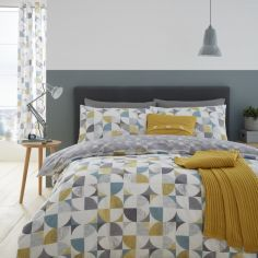 Catherine Lansfield Retro Circles Duvet Cover Set - Multi