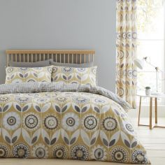 Catherine Lansfield Annika Duvet Cover Set - Ochre Yellow