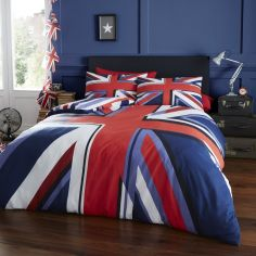 Catherine Lansfield Union Jack Duvet Cover Set - Multi
