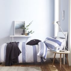 Catherine Lansfield Newquay Stripe Duvet Cover Set - Blue
