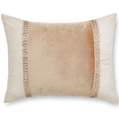 Catherine Lansfield Velvet Diamante Glamour Filled Cushion - Gold
