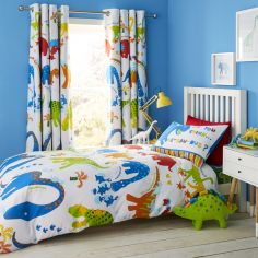 Catherine Lansfield Kids Dino-Saw Duvet Cover Set - Multi