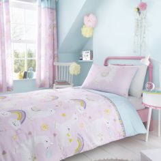 Catherine Lansfield Kids Llama-corn Duvet Cover Set - Pink