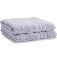 Catherine Lansfield Zero Twist 100% Cotton Towel - Lilac Purple