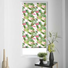 Zootica Flamingo Floral Roller Blind - Multi
