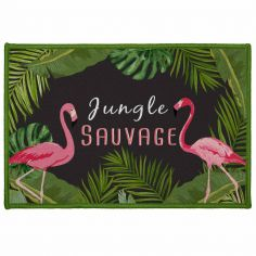 Zootica Flamingo Rectangular Door Mat - Multi