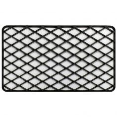 Grille Rectangular Door Mat - Black