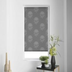Kaya Dream Catcher Japanese Print Roller Blind - Grey