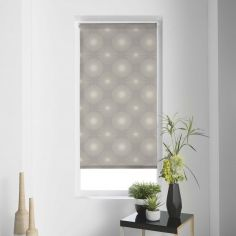 Ozone Circles Japanese Print Roller Blind - Taupe