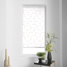 Flechaline Arrows Metal Print Roller Blind - White