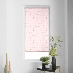 Flechaline Arrows Metal Print Roller Blind - Rose Pink