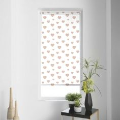 Piccolino Hearts Metal Print Roller Blind - Gold
