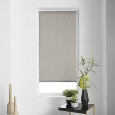 Modern Geometric Japanese Print Roller Blind - Taupe