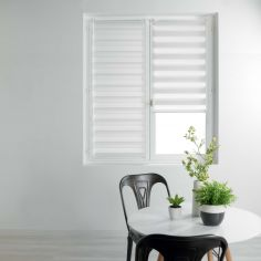 Day and Night Plain Roller Blind - White