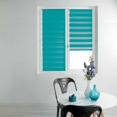 Day and Night Plain Roller Blind - Blue