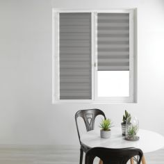 Day and Night Plain Roller Blind - Grey