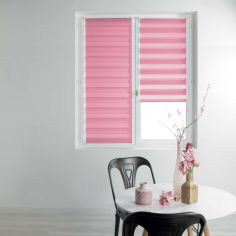 Day and Night Plain Roller Blind - Rose Pink