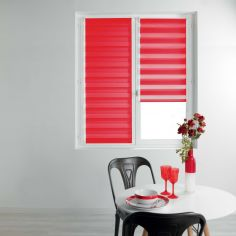 Day and Night Plain Roller Blind - Red