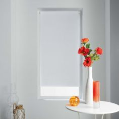 Occult Plain Blackout Roller Blind - White