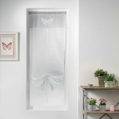 Sandrena Embroidered Butterfly Voile Tie Blind with Slot Top - Light Grey