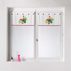 Flamingo Rosa Voile Blind Pair with Slot Top - Pink Multi