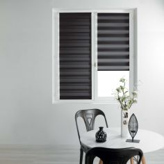 Day and Night Plain Roller Blind - Black
