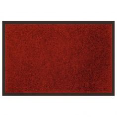 Telio Plain Rectangular Anti Dust Rug - Red